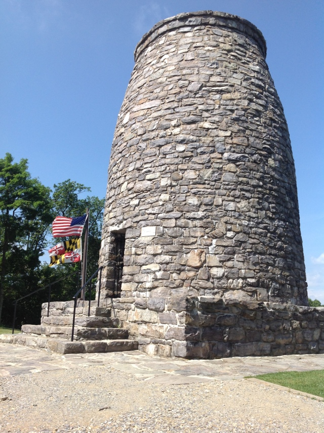 The Washington Monument on top of South Mountain. All the stones from Maryland quarries.