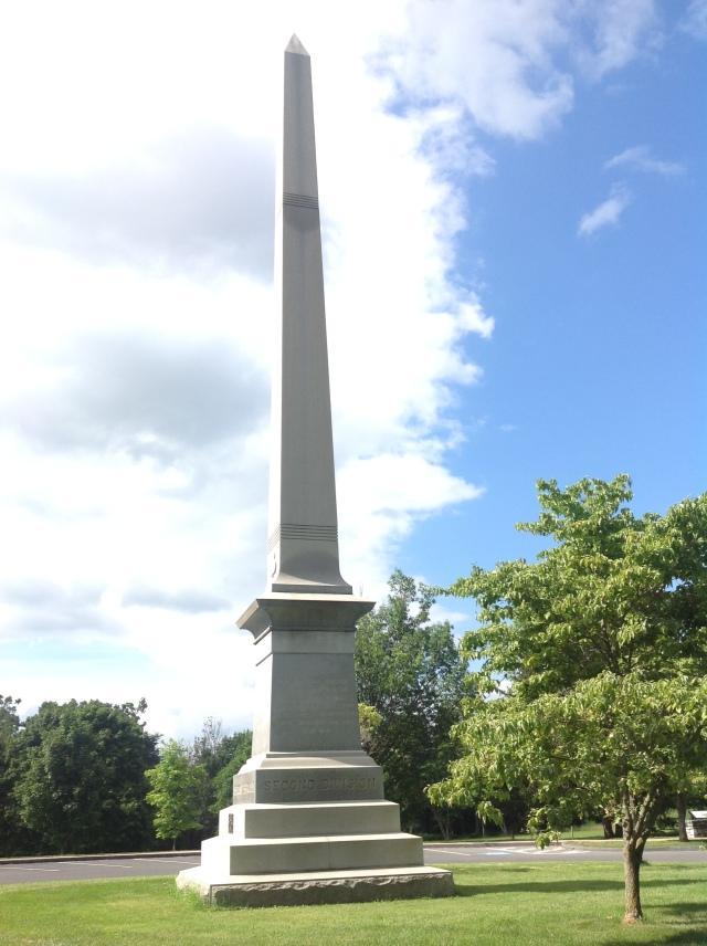 Antietam Ohio Monument by the West Woods.