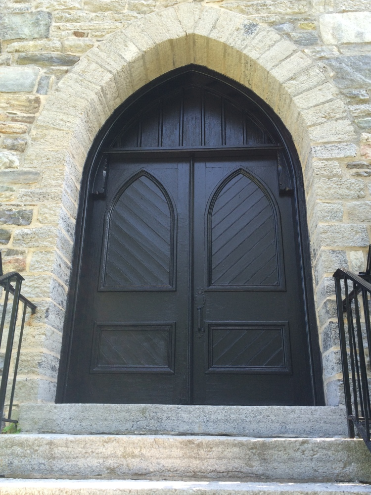 Church at Base of South Mountain. Beautifully crafted doors and stones in this structure.
