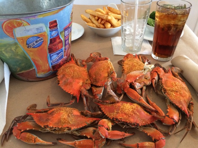 Maryland Blue Crab Dinner at Schula's Grill and Crab in Hagerstown.