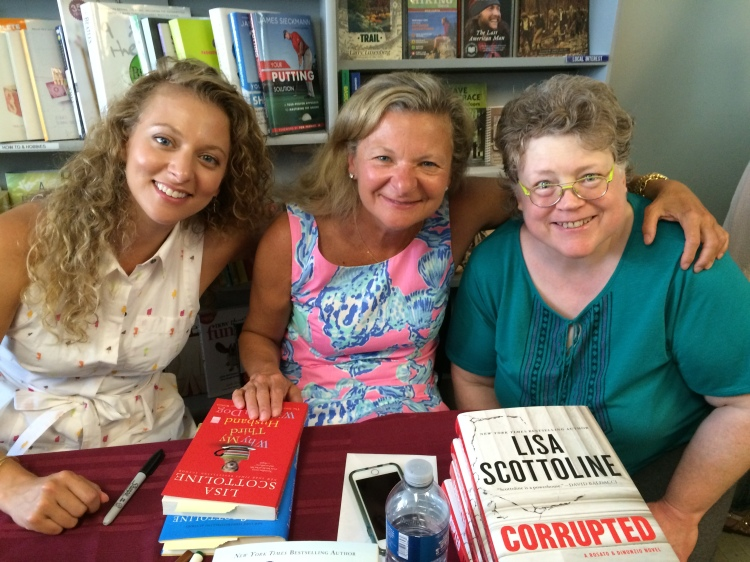 Francesca Serritella, Lisa Scottoline and me - I have been listening to Lisa's audiobooks for a while now from the Hennepin County Library, she asked me to say Hi to the librarians there. She writes good books about women lawyers and they are great women working to help others, very inspiring. We talked about the Vendetta Defense, a book about World War II in part. The character Tony is alive in this book - as all the characters Lisa writes. Check out her books. Scottoline.com — in Boonsboro, Maryland.