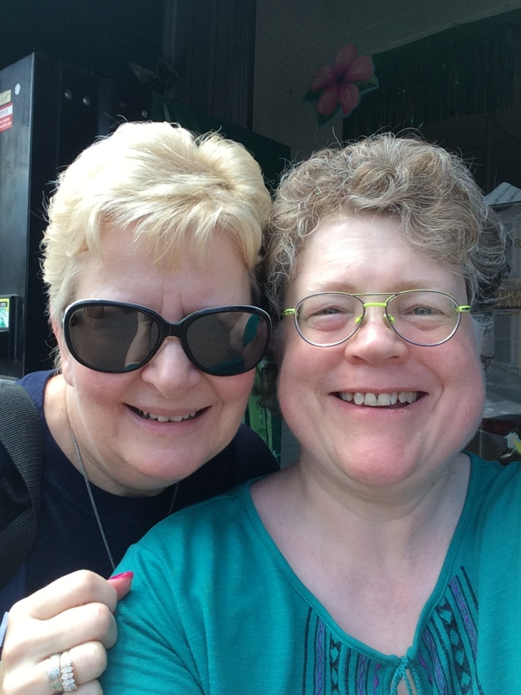 Eva and Me celebrating the successfully completing the July Book Signing Event