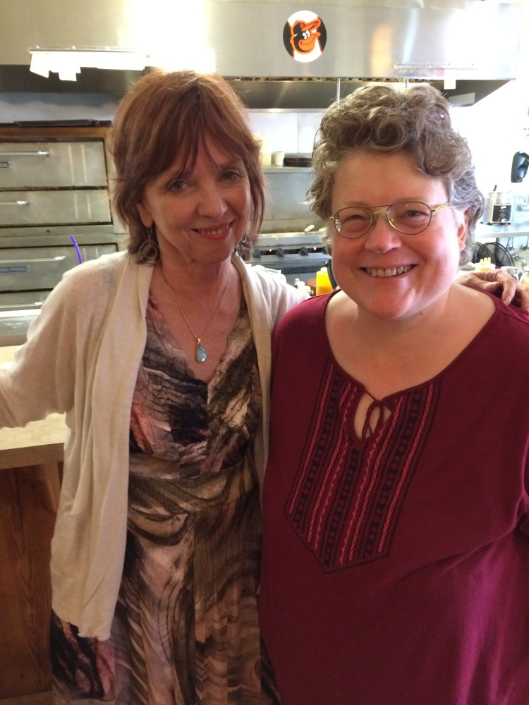 Nora Roberts and Me at the Fall Into the Story Brunch.