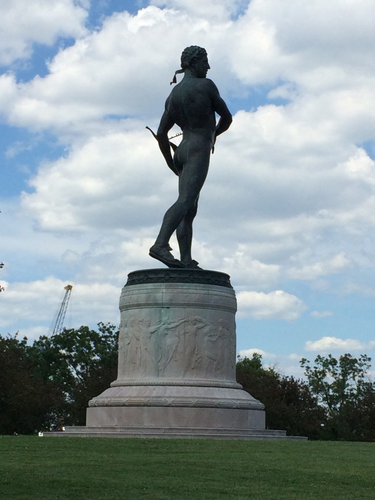 Statue at Fort McHenry along the walking path.